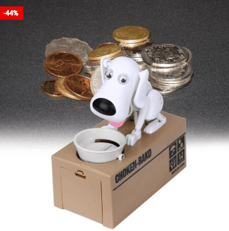 Funny Dog Coin Bank For Children